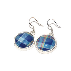 STAND Tartan Sterling Silver Hinged Earrings