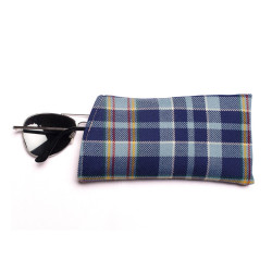 STAND Tartan Glasses Case with Press Stud