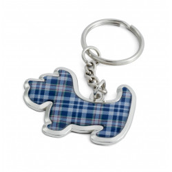 Scottie Dog STAND Tartan Keyring
