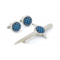 Tartan Kilt Pin & Cufflink Set