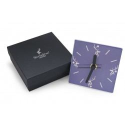 Silver Stag Clock