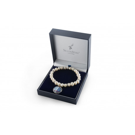 White Fresh Water Pearl Bracelet
