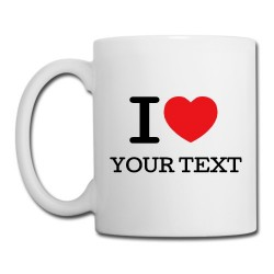 Personalised 'I Love' Mug