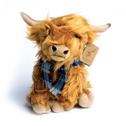 Hairy Coo with Tartan Scarf