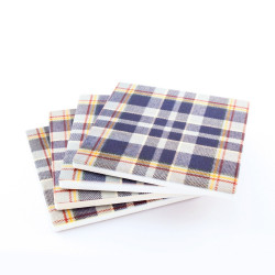 STAND Tartan Ceramic Coasters - 4 pack