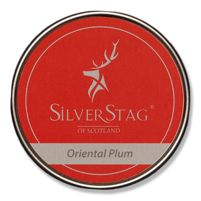 Oriental plum candle 75g silver stag cic for Oriental homewares