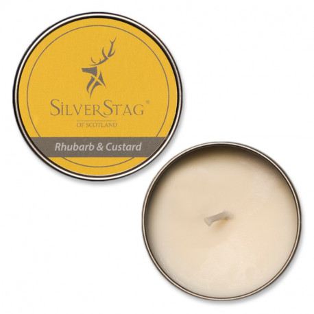 Rhubarb and Custard Candle - 75g - Silver Stag CIC