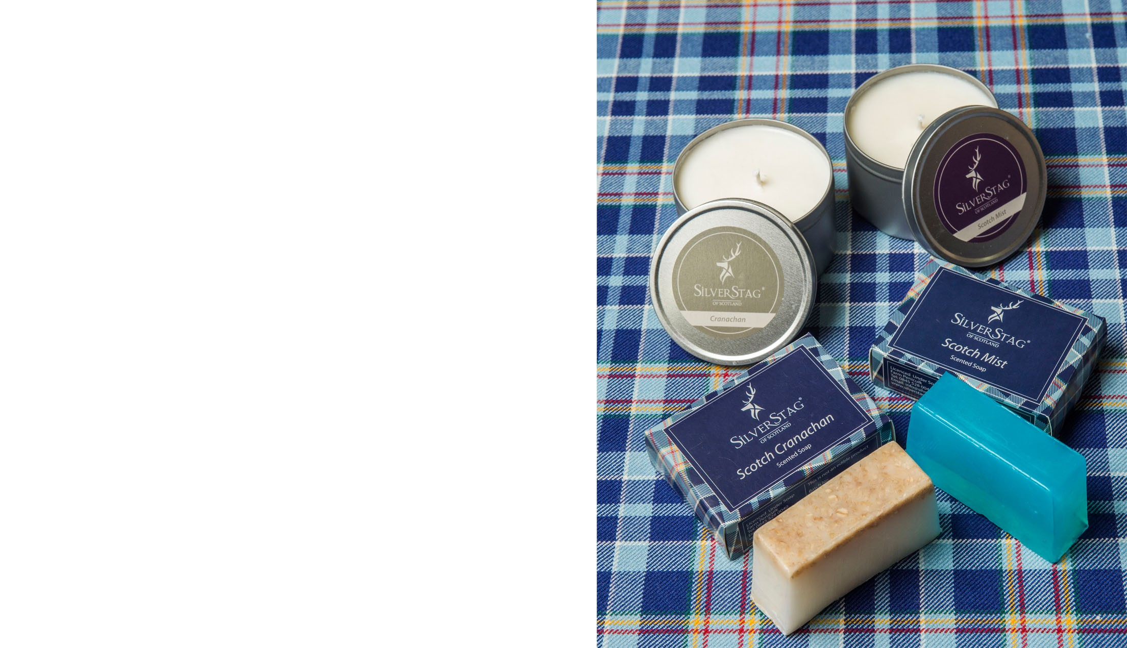 scented soaps and candles